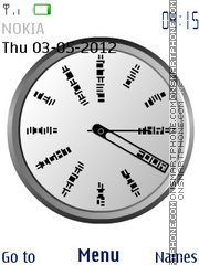 Artde clock theme screenshot