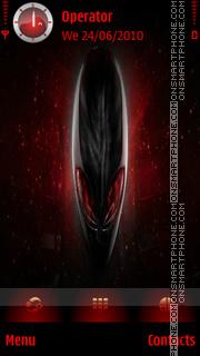 Alienware Red tema screenshot