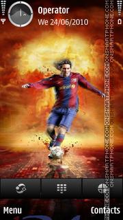 Leo Messi theme screenshot