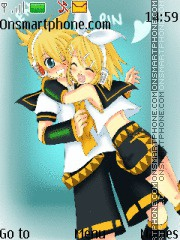 Rin X Len Kagamine theme screenshot