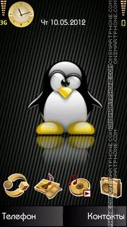 Gold Penguin tema screenshot