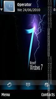 Blue W7 theme screenshot