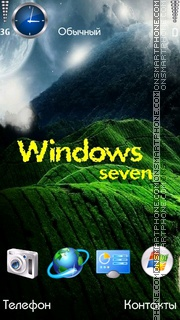 Windows Seven es el tema de pantalla