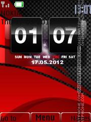 Red Carbon 02 theme screenshot