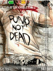 Punks not dead tema screenshot