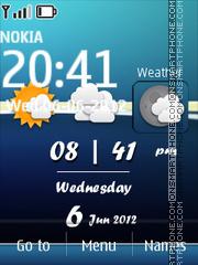 Android Weather Theme tema screenshot