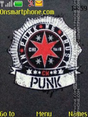 CM Punk theme screenshot