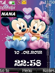 Mickey n Minnie New CLK theme screenshot