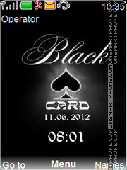 Black Card es el tema de pantalla