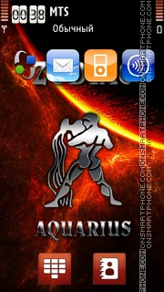 Aquarius 11 tema screenshot