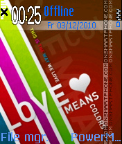 Love Means theme screenshot