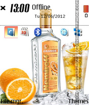 Vodka Nemiroff theme screenshot