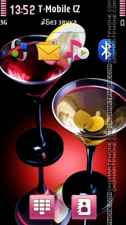 Cocktail With Olives theme screenshot