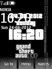 Gta clock es el tema de pantalla