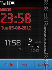 Android View Clock es el tema de pantalla