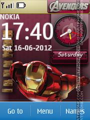 Avengers Clock es el tema de pantalla