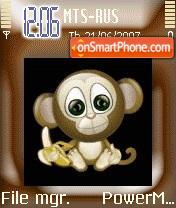 Animated Cute Monkey 01 theme screenshot