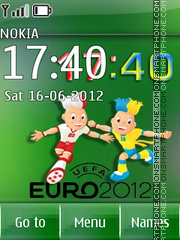 Euro 2012 clock 01 theme screenshot