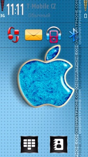 Blue Apple 01 theme screenshot