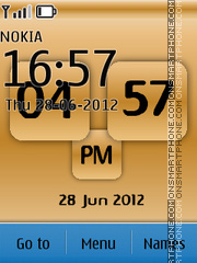 New Style Clock 07 theme screenshot