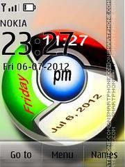 Chrome Digital Clock es el tema de pantalla
