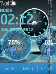 Bulb Clock theme screenshot