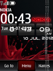 Nokia Clock 15 theme screenshot