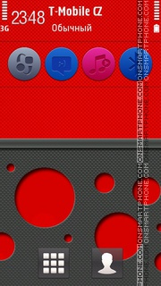 Ncarbon Red 5th theme screenshot
