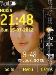Katrina Clock theme screenshot