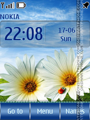 Summer Flowers es el tema de pantalla