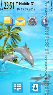 Summer Paradise s60v5 theme screenshot