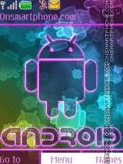 Colorful Android theme screenshot
