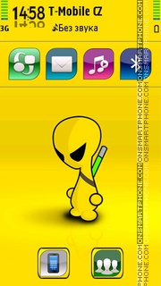 Alien 12 theme screenshot