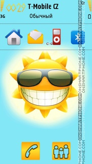 Summer Sun 01 theme screenshot