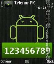 Android Robot es el tema de pantalla