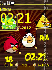 Angry Birds Clock theme screenshot