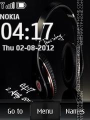 Music Headphones 01 es el tema de pantalla