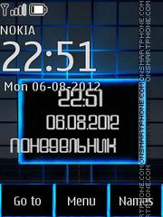 Blue theme theme screenshot