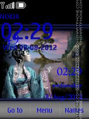 The east and a girl theme screenshot