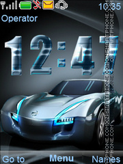 Blue Car theme screenshot
