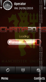 Manchester United Champ20ns tema screenshot