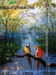 Macaws in the Rainforest theme screenshot