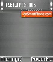 Brushed Metal Dark Beos theme screenshot