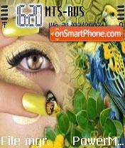 Lovely Eyes theme screenshot