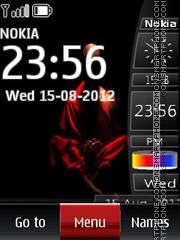 Buddhist Clock theme screenshot