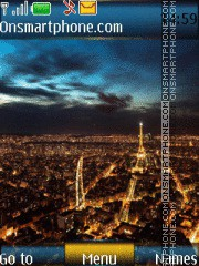 City Night And Ringtone theme screenshot