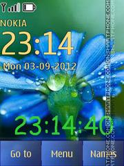 Floweret with a clock theme screenshot