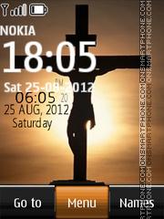 Jesus Digital Clock theme screenshot