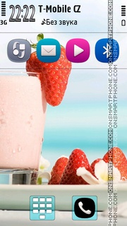 Strawberry Cocktail theme screenshot