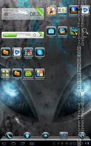 Blu Alien es el tema de pantalla